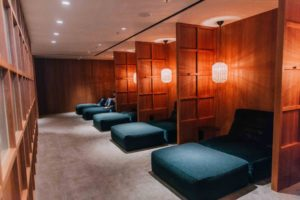 business class lounge sleep areas