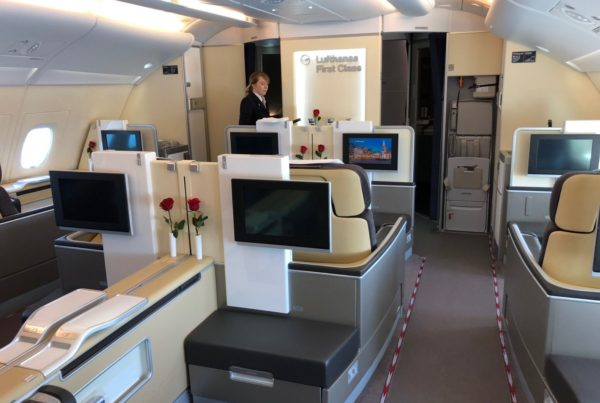 Lufthansa First Class to Europe